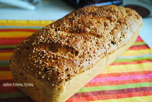 ψωμί με σταφίδες και κραμπερι 1