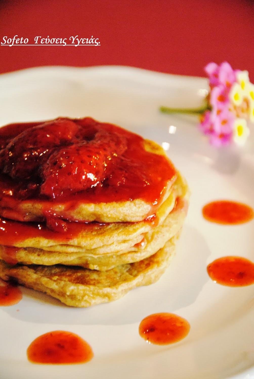 τηγανίτες με φραουλες 1