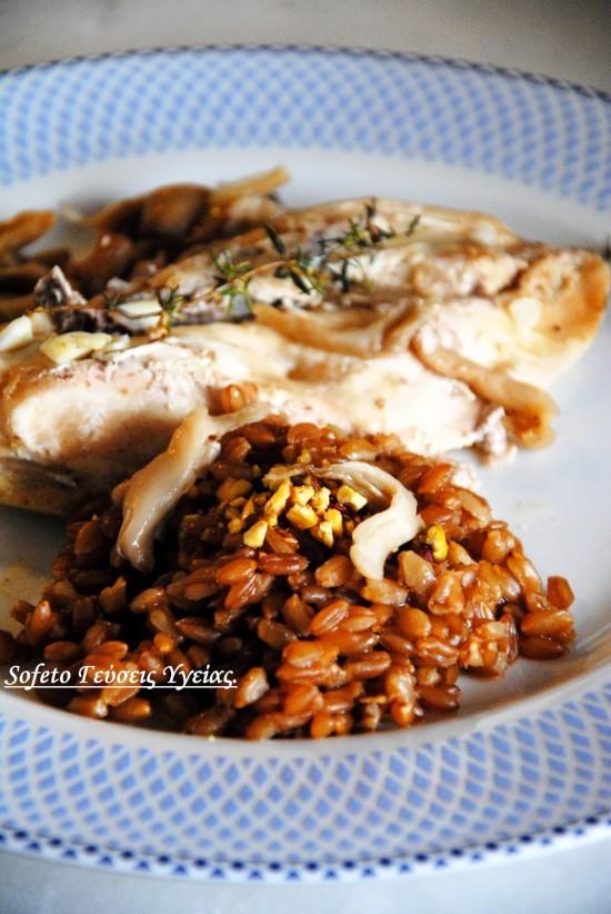 κοτόπουλο με μανιτάρια 2