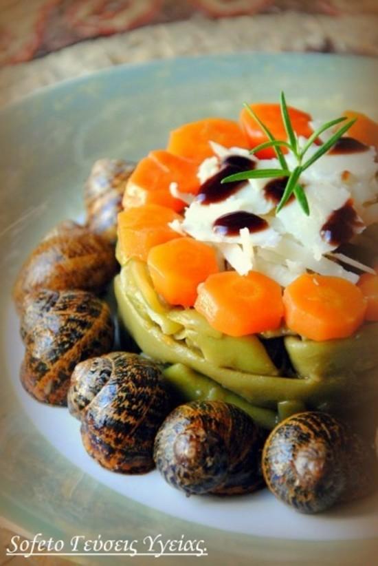 σαλάτα με σαλιγκάρια 1